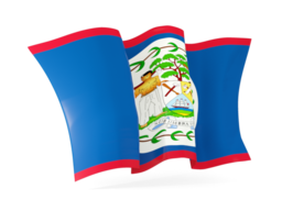 belize waving flags