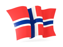 bouvet island waving flags