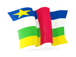 central african republic waving flags