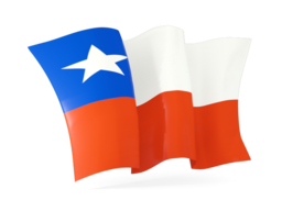 chile waving flags