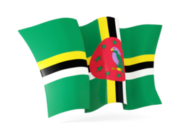 dominica waving flag 256
