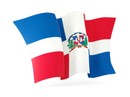 dominican republic waving flags