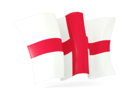 england waving flags