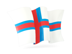 faroe islands waving flags