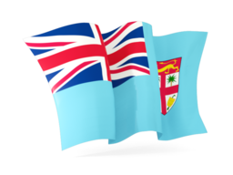 fiji waving flags