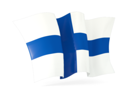 finland waving flags