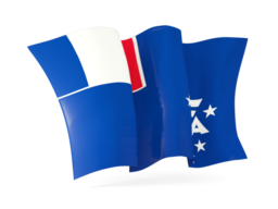 french southern territories waving flags
