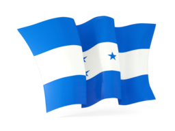 honduras waving flags