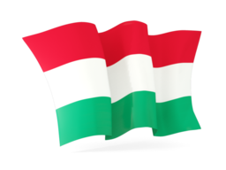 hungary waving flags