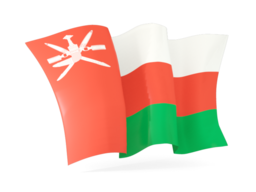 oman waving flags
