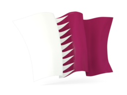 qatar waving flags