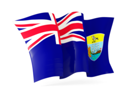 saint helena waving flags