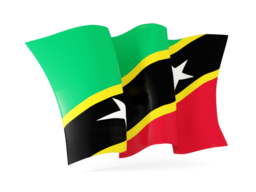 saint kitts and nevis waving flags