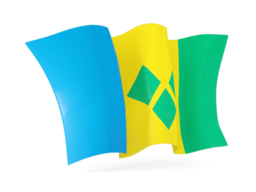 saint vincent and the grenadines waving flags