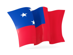 samoa waving flags