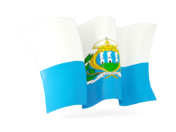 san marino waving flags