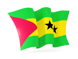 sao tome and principe waving flags