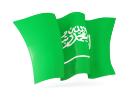 saudi arabia waving flags