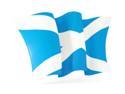 scotland waving flags