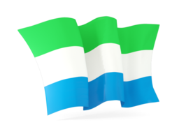 sierra leone waving flags