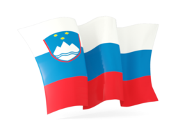 slovenia waving flags