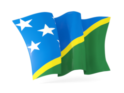 solomon islands waving flags