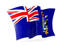 south georgia and the south sandwich islands waving flags
