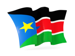 south sudan waving flags