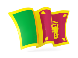 sri lanka waving flags