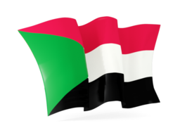 sudan waving flags