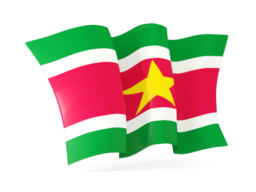 suriname waving flags