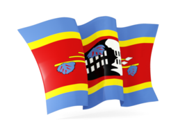 swaziland waving flags
