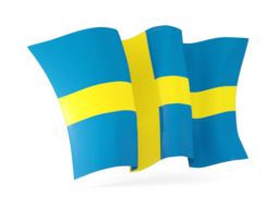 sweden waving flags