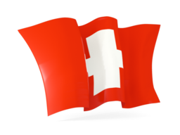 switzerland waving flags
