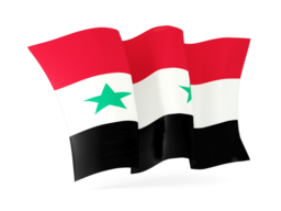 syria waving flags