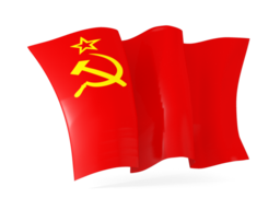 ussr waving flags