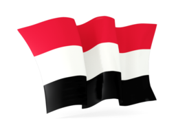 yemen waving flags